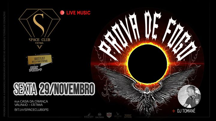 Rock Covers :: PROVA DE FOGO • sexta-feira, SPACE CLUB - Fátima