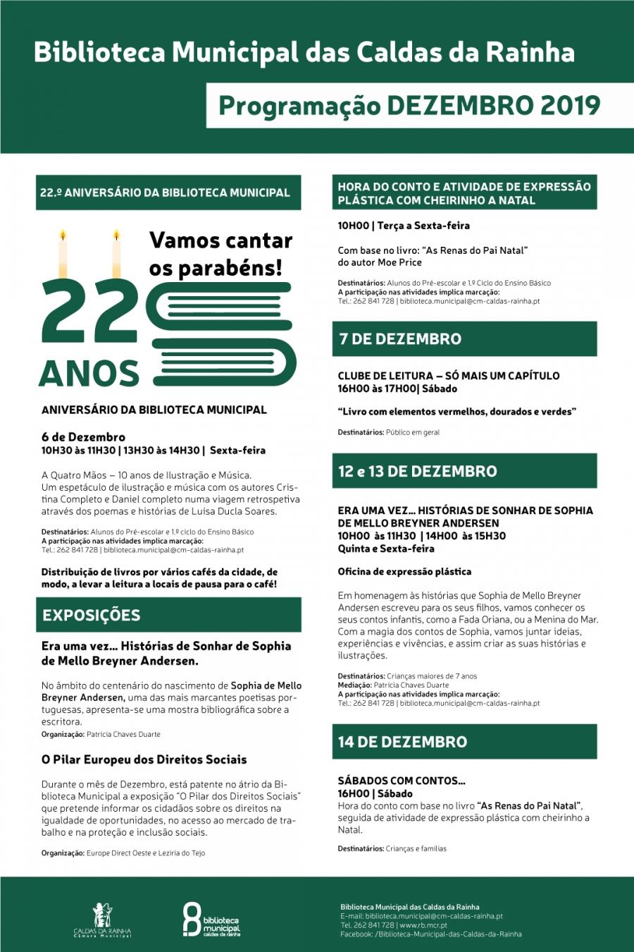 22.º ANIVERSÁRIO DA BIBLIOTECA MUNICIPAL