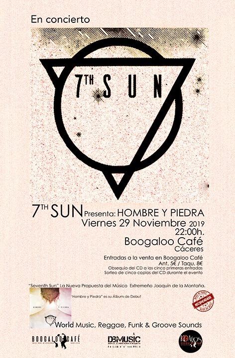 7th sun en concierto Boogaloo Cáceres.