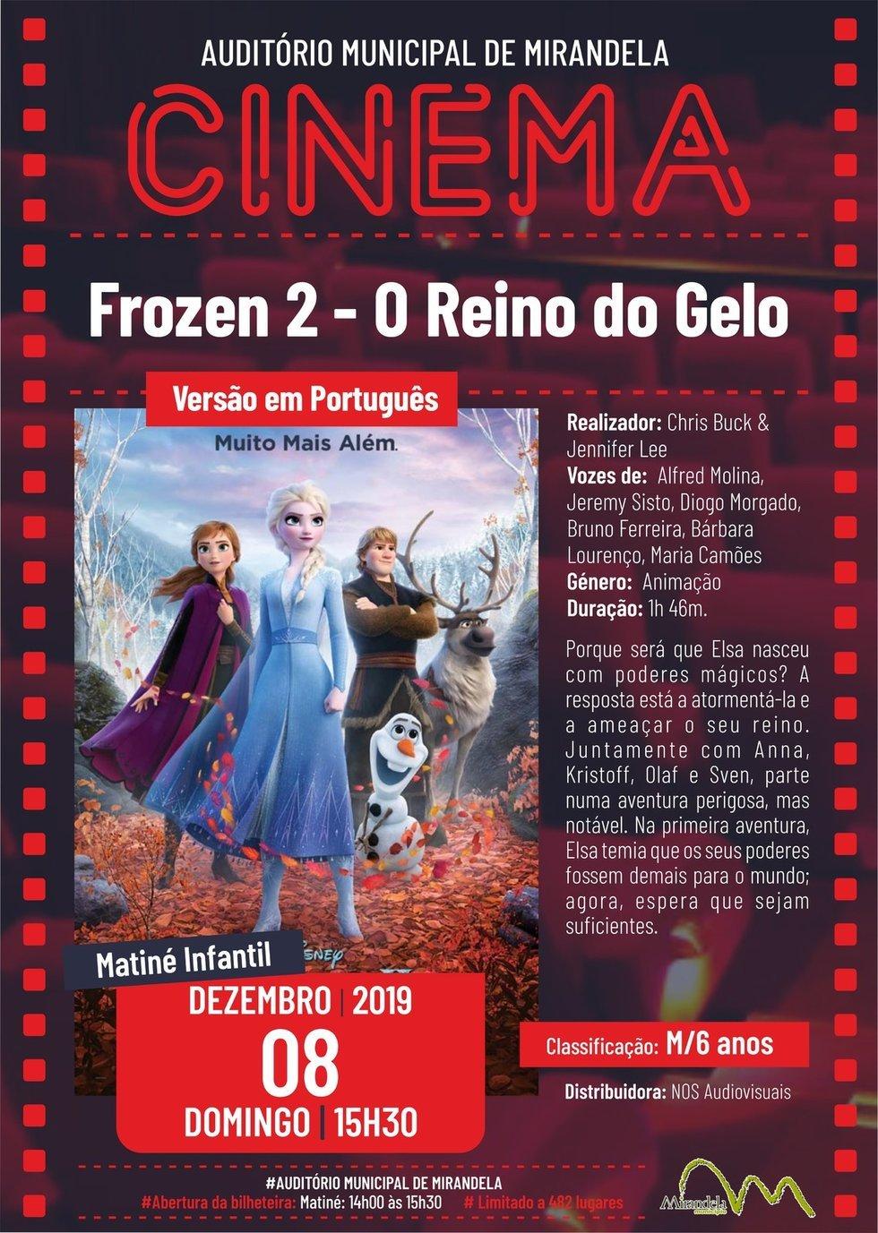 Cinema: Frozen 2 - O Reino do Gelo