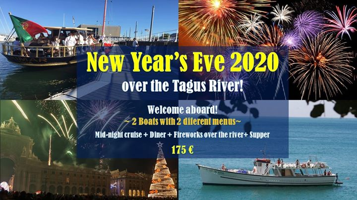 New Year's Eve over the Tagus river