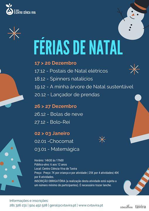 Férias de Natal no Ciência Viva de Tavira