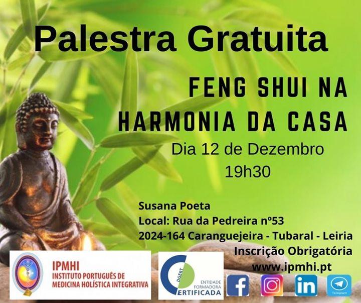 Palestra gratuita 'Feng Shui na Harmonia da Casa'