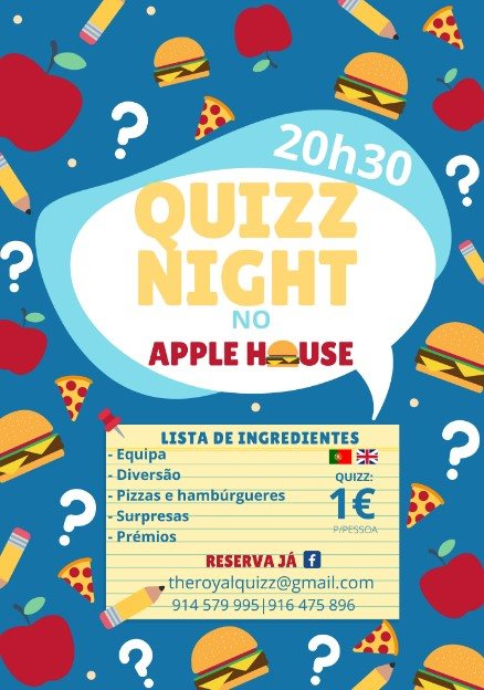 Noite de Quiz / Quiz Night (04Dez2019)