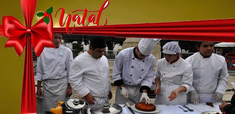 Mostra Gastronómica de Natal pela Escola de Hotelaria e Turismo de VRSA