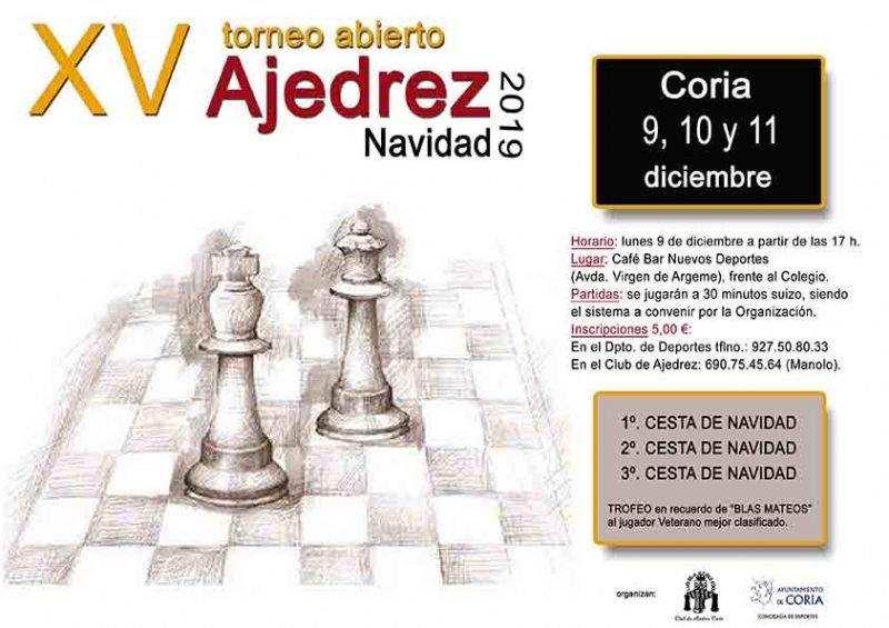 "XX Torneo abierto de Ajedrez ""Navidad 2019"""