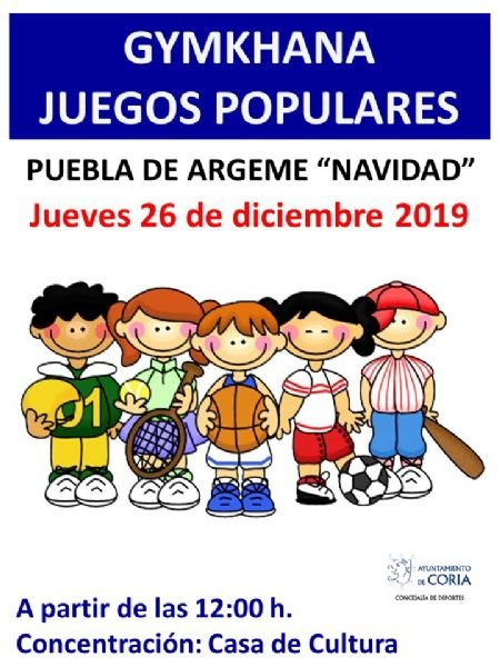 Gymkhana de Juegos Populares en Puebla de Argeme