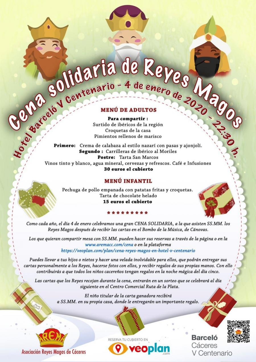 Cena con los Reyes Magos de Cáceres