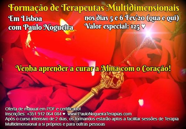 Curso de Terapia Multidimensional em Lisboa em Fev'20 à semana