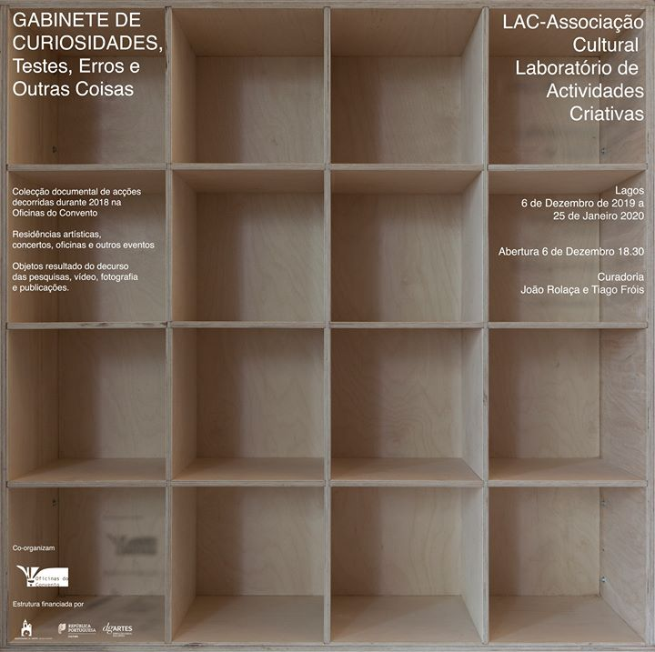 Exposição Oficinas do Convento - Galeria LAR - Lagos, Portugal