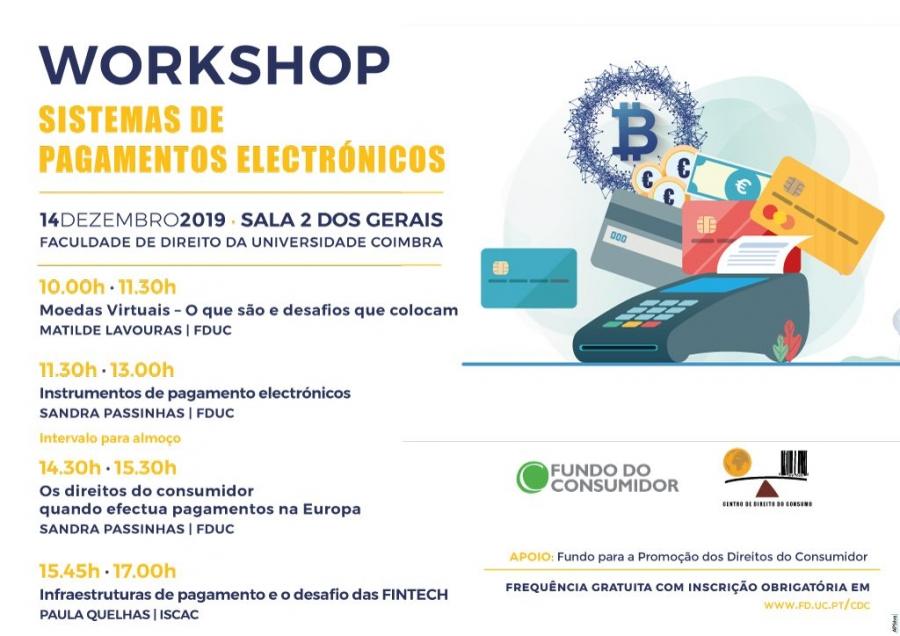 Workshop · SISTEMAS DE PAGAMENTOS ELECTRÓNICOS