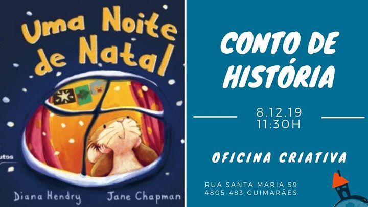 Conto de História 'Uma Noite de Natal' com Oficina Criativa