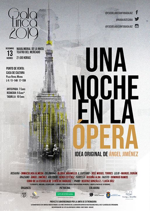 Gala Lírica 2019. Una Noche en la Ópera. Navalmoral de la Mata