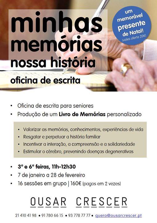 Oficina de escrita - Minhas memórias, nossa história
