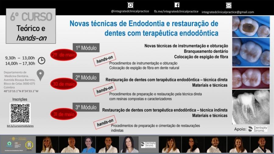 """Curso """"Novas técnicas de Endodontia e restauração de dentes com terapêutica endodôntica"""""""