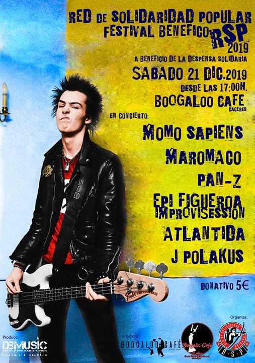 Rock Festival benefico en Boogaloo Cáceres