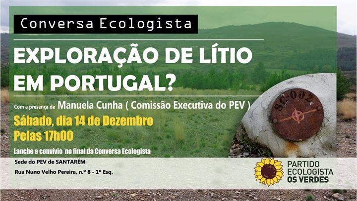 Conversa Ecologista - Exploração de Lítio em Portugal?