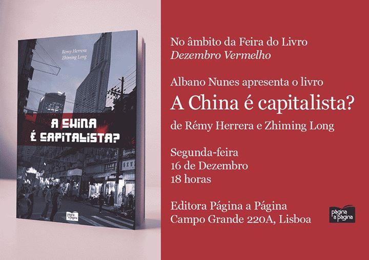 Albano Nunes apresenta o livro «A China é capitalista?»