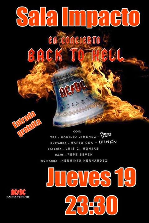 En concierto BACK TO HELL tributo a ACDC