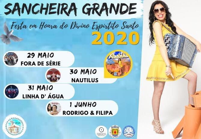 Festa em Honra do Divino Espirito Santo 2020   Sancheira Grande