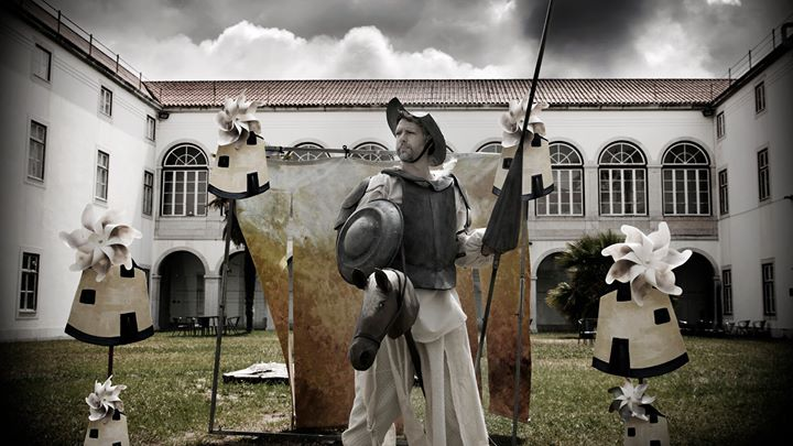 D. Quixote de La Mancha e o Seu amigo Sancho Pança