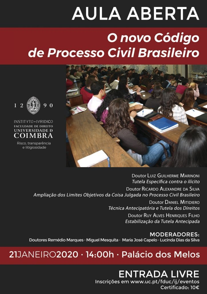 AULA ABERTA · O novo Código de Processo Civil Brasileiro