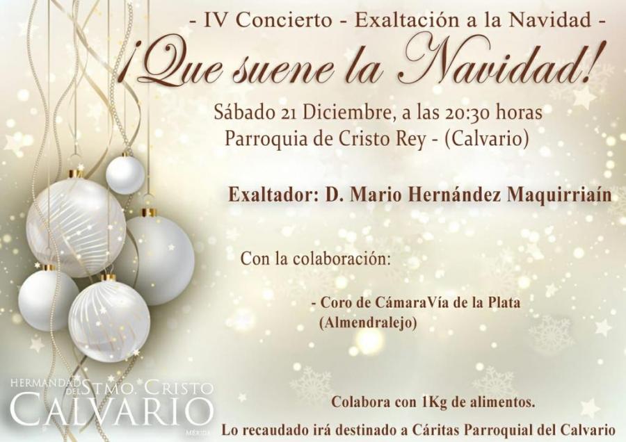 IV Concierto-Exaltación a la Navidad de la Hermandad del Calvario