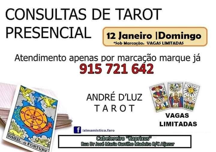 Consultas Tarot ALJEZUR 12 Janeiro 2020