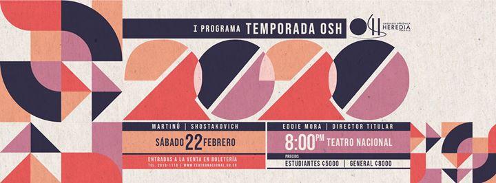 OSH 2020 Febrero Teatro Nacional de Costa Rica