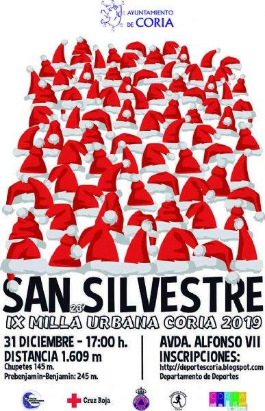 "XXIII San Silvestre Navideña y 9ª Milla Urbana ""Coria 2019"""