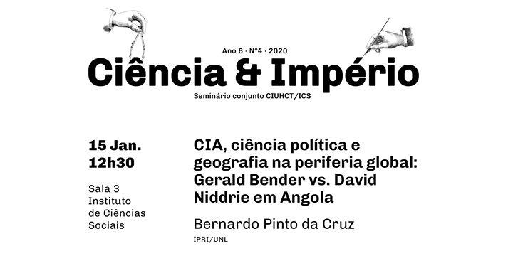 Seminário Ciência e Império, com Bernardo Pinto da Cruz