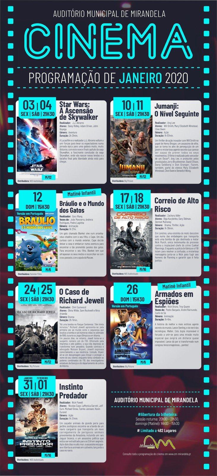 Cinema: Janeiro 2020