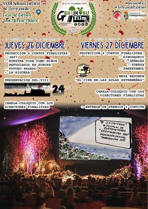 IV Gentinosu Film Fest Torrejoncillo - 26 y 27 de diciembre 2019