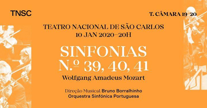 OSP e Bruno Borralhinho: Sinfonias 39, 40, 41 de Mozart