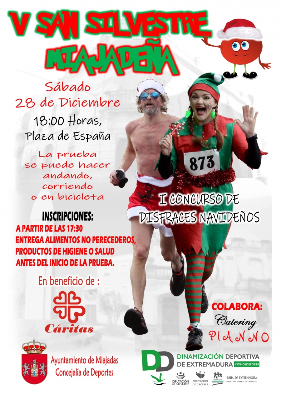 V San Silvestre Miajadeña + I Concurso de Disfraces