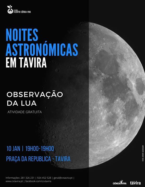 Noites Astronómicas em Tavira - Observação da Lua