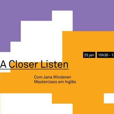 Cancelado-Circuito Avançado:BMA lab: Masterclass, Jana Winderen