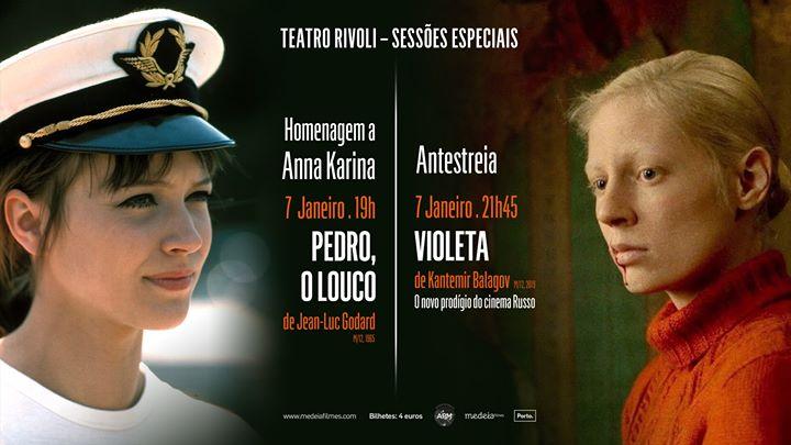 Homenagem a Anna Karina e antestreia de Violeta, no Rivoli