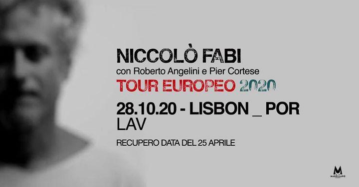 Niccolò Fabi in concerto a Lisbona