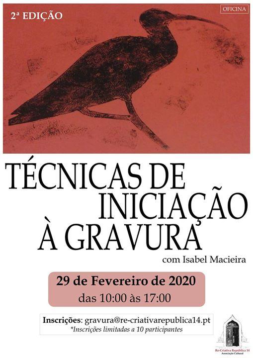 Workshop de Gravura por Isabel Macieira - 2ª edição