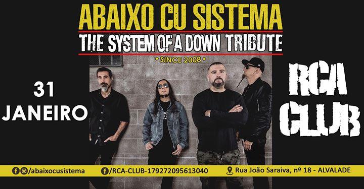 Abaixo Cu Sistema - The System Of A Down Tribute 31 JAN RCA CLUB