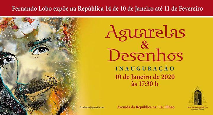 Fernando Lobo - Exposição de Aguarelas e Desenhos - Inauguração