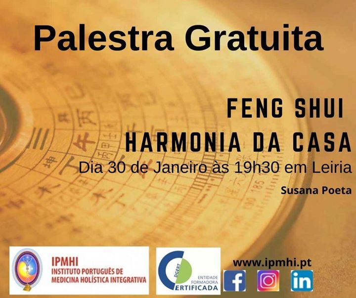 Palestra gratuita 'Feng Shui - Harmonia da Casa'