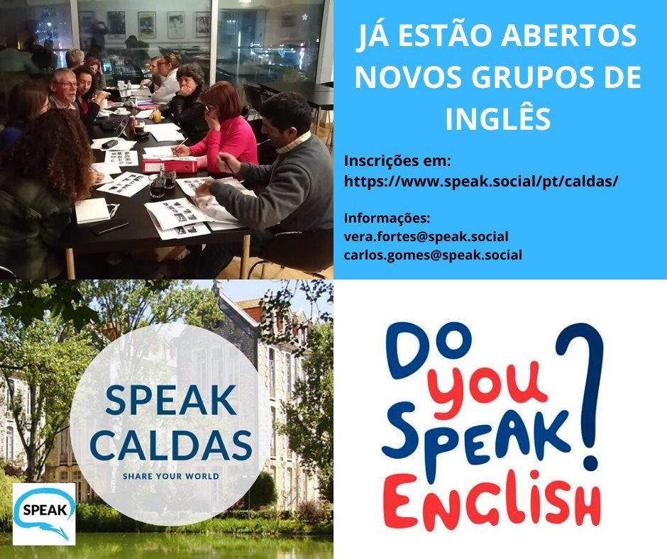 SPEAK Caldas -Novos Grupos!!