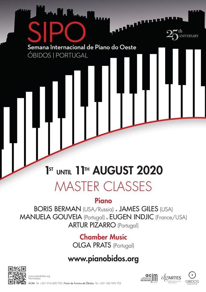 SIPO 2020 | Semana Internacional de Piano do Oeste | Óbidos