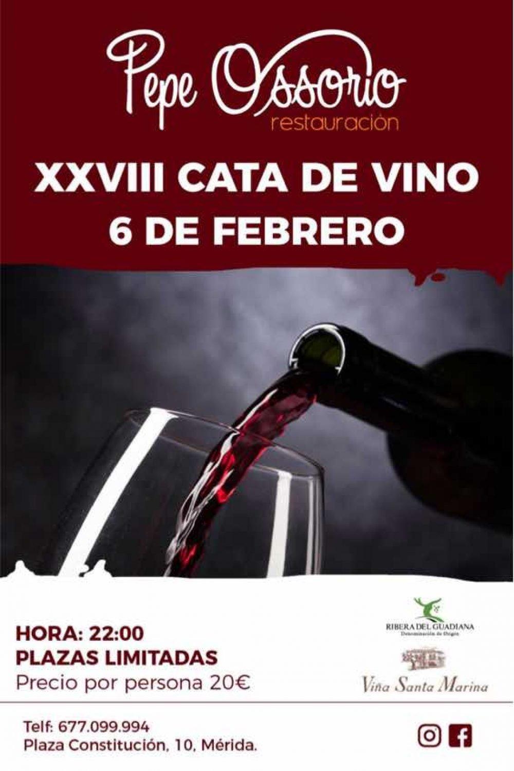 XXVIII CATA DE VINOS