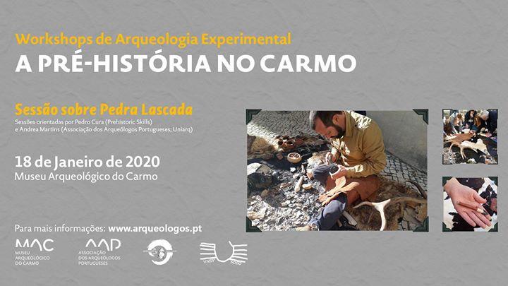 A Pré-História no Carmo: Sessão sobre Pedra Lascada