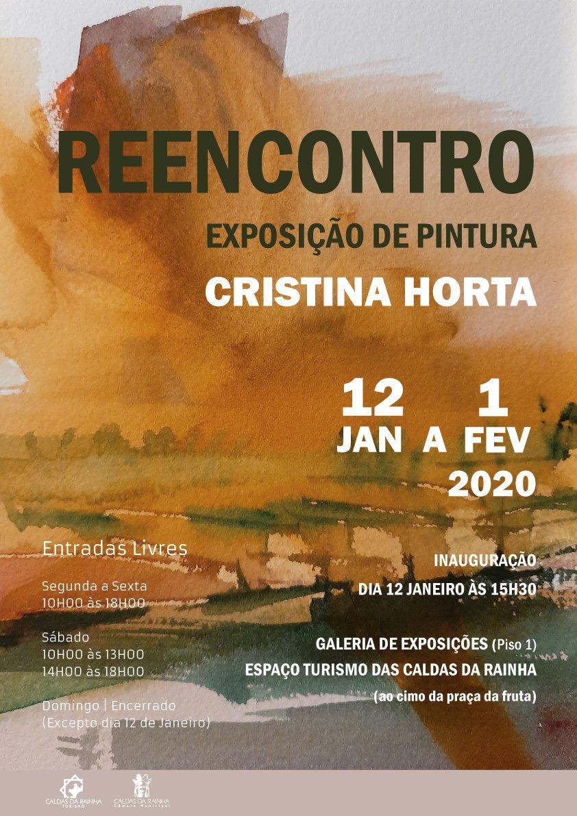 """Exposição de Pintura """"REENCONTRO"""", de Cristina Horta"""