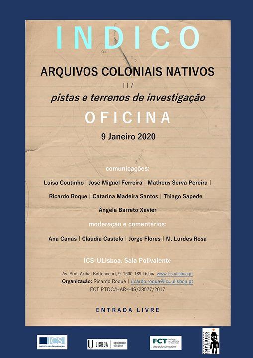 Arquivos coloniais nativos: pistas e terrenos
