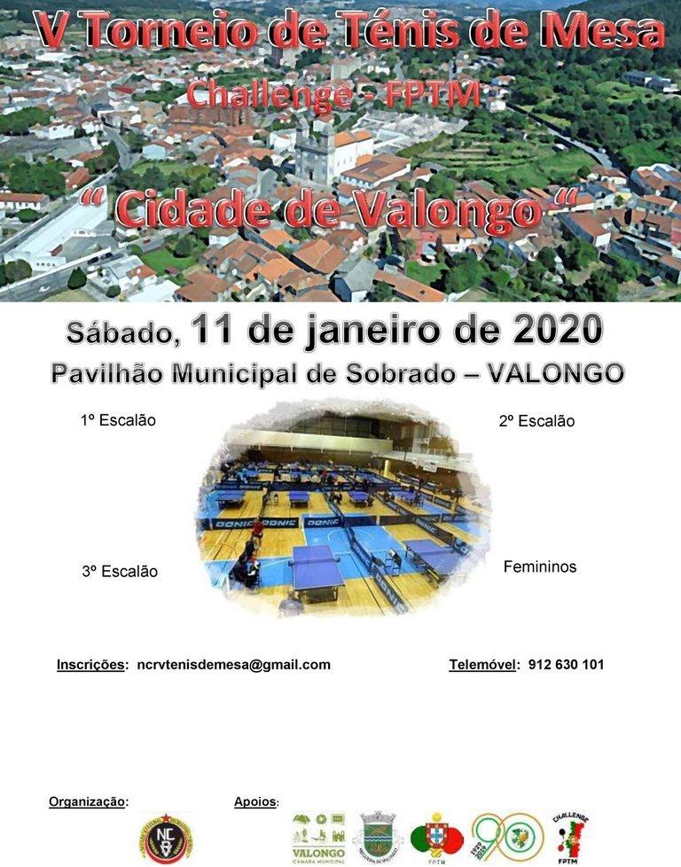 """Torneio Challenge """"Cidade de Valongo"""" em ..."""
